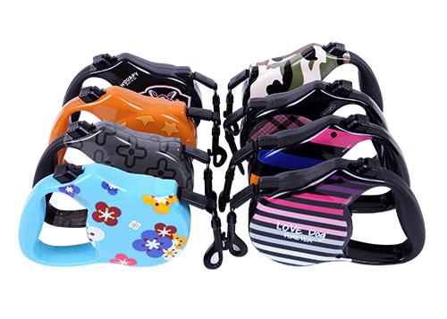 5m/8m Retractable Reflective Dog Leash With Secure Locking Fashionable Soft cotton dog leash