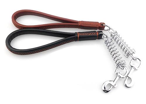 Laisse courte pour chien avec ressort amortisseur Short pull